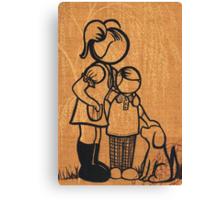 1970's Vintage Family... Canvas Print