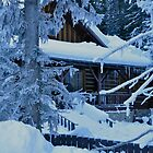 Winter Cabin by Ron  Hanson