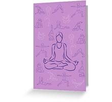 Violet Yoga Greeting Card