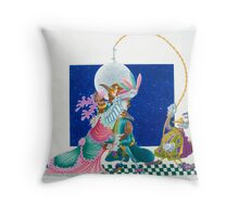 Moon Dancers (W/colour on cold-press illust board) Throw Pillow