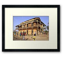 a historic Senegal landscape Framed Print