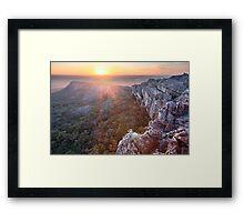 Flat Rock, Mt Stapylton, Grampians, Victoria, Australia Framed Print