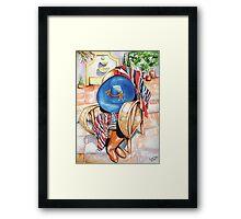 Blue Sombrero Framed Print