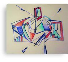 Rosie Blue Robot Canvas Print