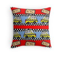 NYC taxis  Throw Pillow