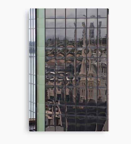 reflecting auckland Canvas Print