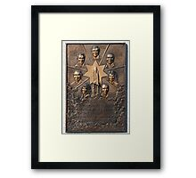 Shuttle Challenger Tribute Framed Print