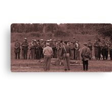 Muster co C sepia Canvas Print