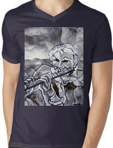BLUE FLUTE Mens V-Neck T-Shirt