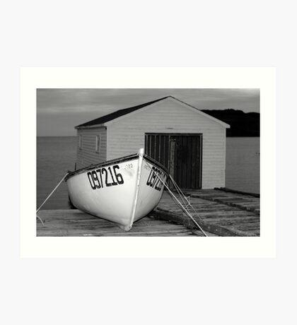 Waiting Boat Art Print