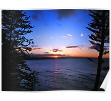 Sunset at Currumbin Beach Poster