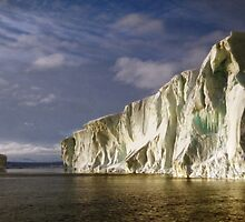 Iceberg at Cape Roget: Sunset & Sunrise All in One by Carole-Anne