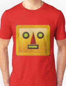 Yellow Robot Face Unisex T-Shirt