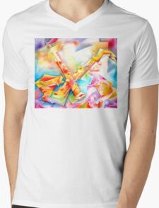 BE BOP Mens V-Neck T-Shirt