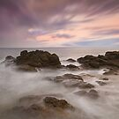 Gullane Bay Rocks by bluefinart