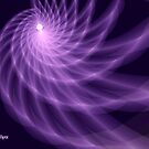 Purple Spiral by Dana Roper