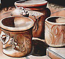 Tres Mecatas/Three Pots by kandyce