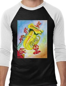 PLAYFUL TUBA Men's Baseball ¾ T-Shirt