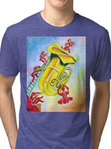 PLAYFUL TUBA Tri-blend T-Shirt