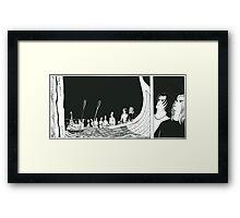 """VIKINGS """"waiting for the battle"""" Framed Print"""