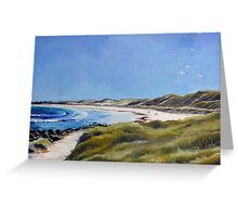 The Path to Pea-Soup Beach Greeting Card