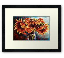 Sunflowers and Daisies Framed Print