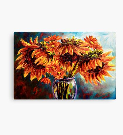 Sunflowers and Daisies Canvas Print