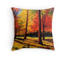 Maple Trees Park Throw Pillow