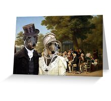 Scottish Deerhound Art - Politicians in the Tuileries Gardens Greeting Card