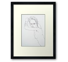 kate is without a phone because...you guessed it! Framed Print