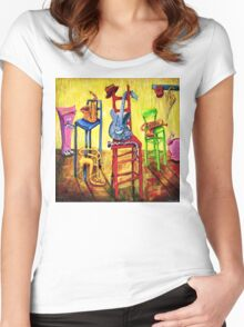 TIME OUT Women's Fitted Scoop T-Shirt