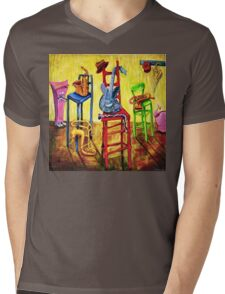 TIME OUT Mens V-Neck T-Shirt