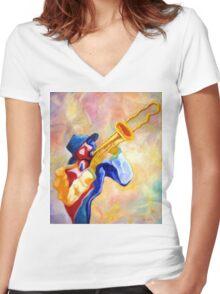 SACKBUT Women's Fitted V-Neck T-Shirt