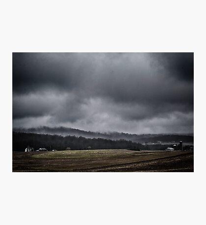 Misty Farms Photographic Print