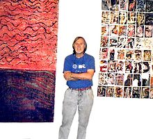 Me And Two Of My Works. by Richard  Tuvey