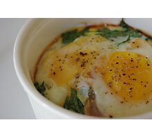 Baked Eggs Photographic Print