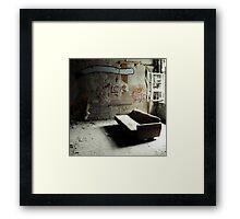 the smoking lounge Framed Print