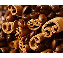Cinnamon and Coffee Photographic Print