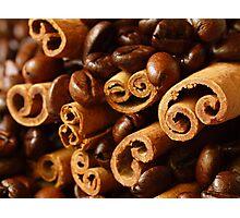 Cinnamon and Coffee Photographic Print