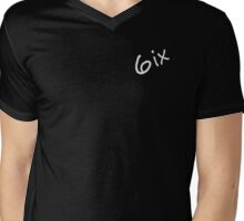 6ix Original Logo  Mens V-Neck T-Shirt