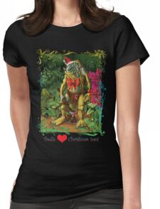 Trolls Love Christmas too Womens Fitted T-Shirt