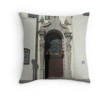 Olvera Street Church Throw Pillow