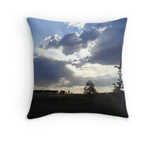 behold he comes, riding on a cloud Throw Pillow