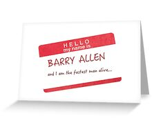 My name is Barry Allen  Greeting Card