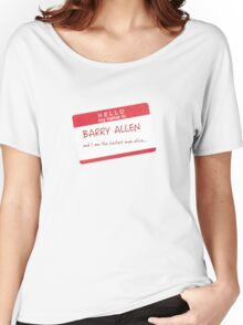 My name is Barry Allen  Women's Relaxed Fit T-Shirt