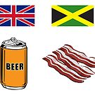 "English ""Beer-Can"" = Jamaican ""Bacon"" by suranyami"