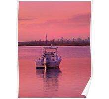 Resting On Pink Waters Poster