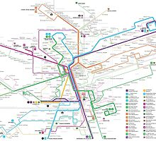 Luxembourg bus map by Jug Cerovic