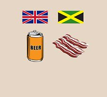 """English """"Beer-Can"""" = Jamaican """"Bacon"""" T-Shirt"""