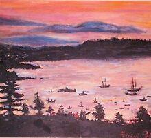 Sunrise At Bar Harbor, Maine by Helena Bebirian